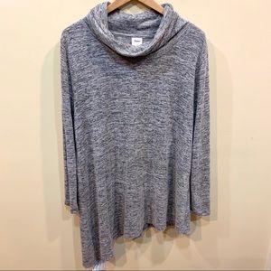 Soma asymmetrical Cowl neck heather gray tunic top